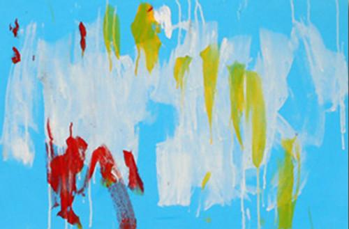 Birdonawire - Acrylic Abtract Painting