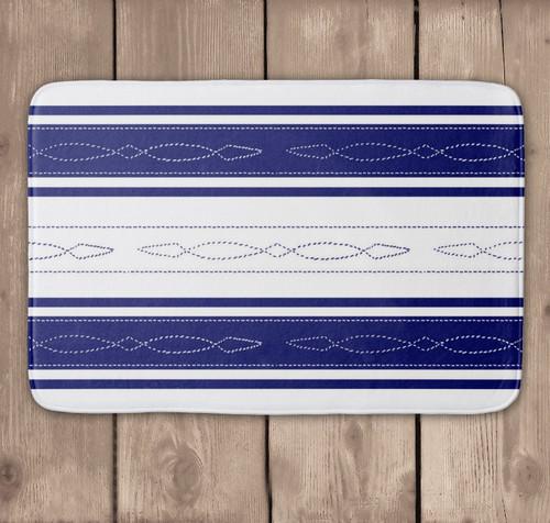 Fancy bridle pattern equestrian bath mat