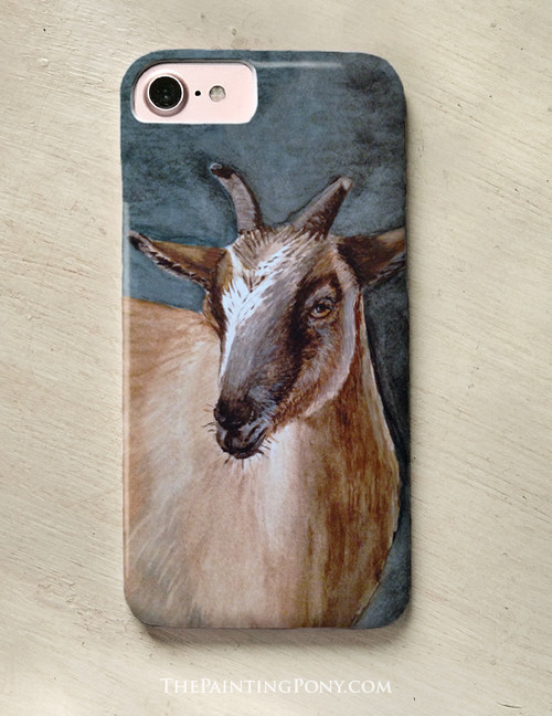 Cute Brown Pygmy Goat Art Phone Case The Painting Pony