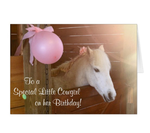White Pony Girls Birthday Card The Painting Pony