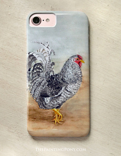 Country Chicken Art Phone Case The Painting Pony