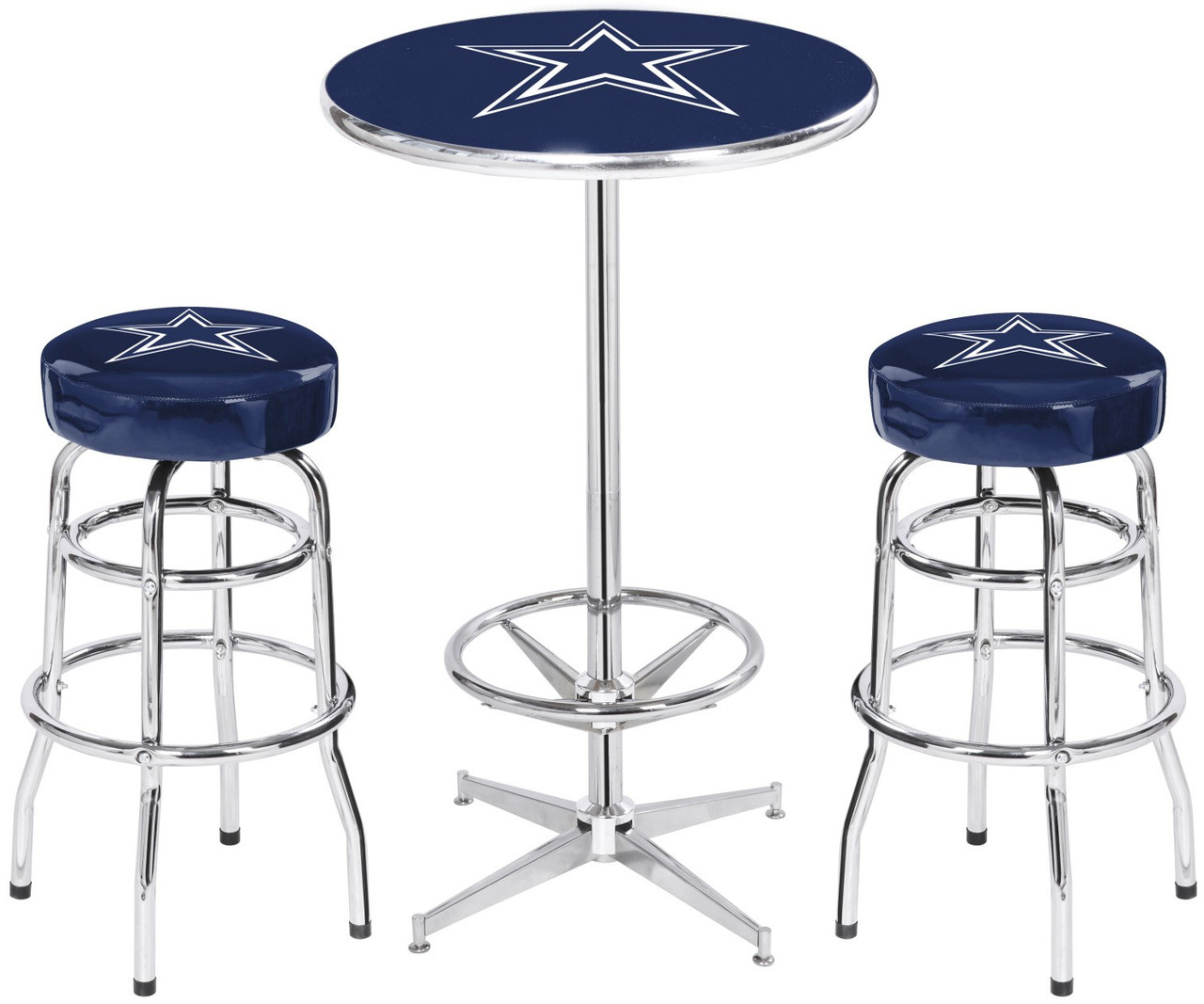 Dallas cowboys heavy duty 3 piece pub set cb furniture dallas cowboys heavy duty 3 piece pub set watchthetrailerfo