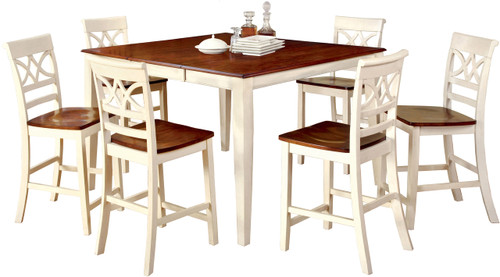 Akima White 7 Piece Dining Set