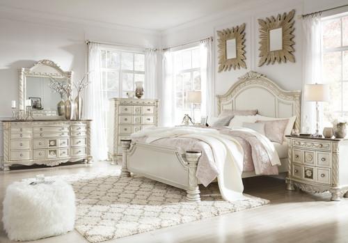 Alexandria Marble Panel Bedroom Set