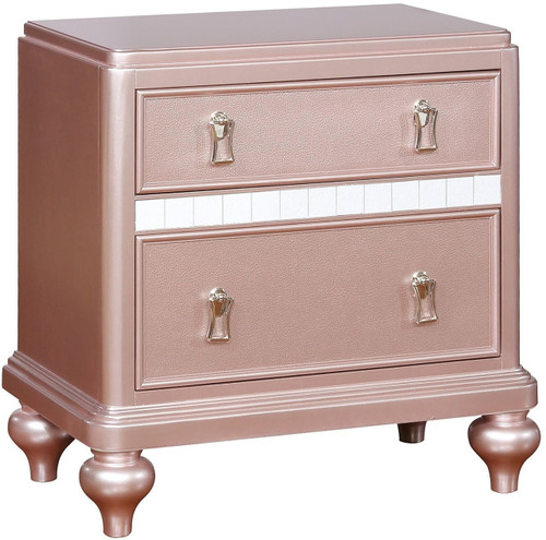 Aubriana Rose Gold Nightstand