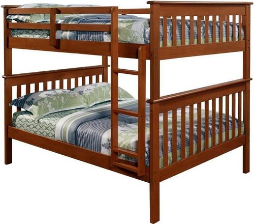 Derik Medium Brown Full Bunk Bed