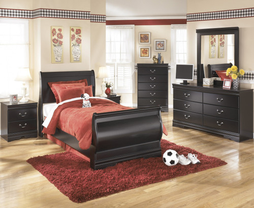 Paris Black Youth Bedroom Set
