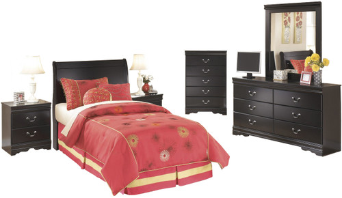 Paris Black Headboard Youth Bedroom Set