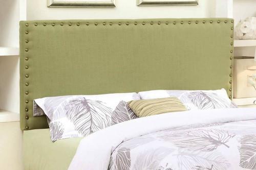 Abner Lime Green Full & Queen Fabric Headboard W/Nailheads
