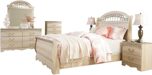 Katia Cream Sleigh Bedroom Set