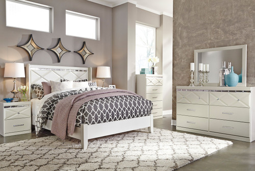 Rizvon Champagne Bedroom Set