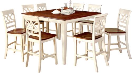 Akima White 9 Piece Dining Set