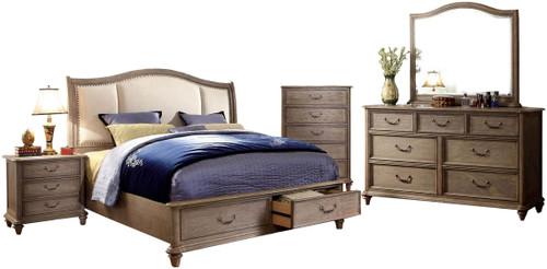 Aldin Rustic Natural Tone 6-PC Bedroom Set