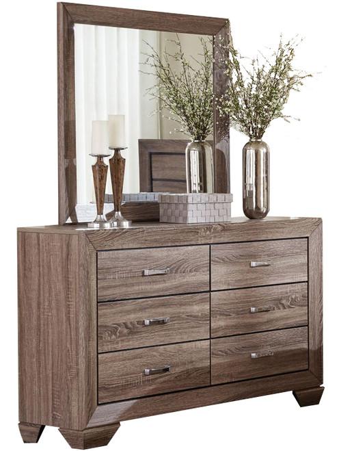 Andrews Taupe Dresser & Mirror
