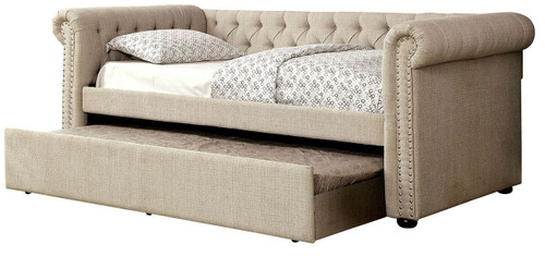 Alexandre Beige Day Bed w/ Trundle
