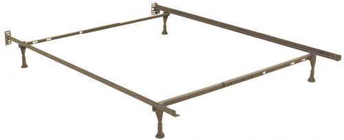 Keystone Twin, Full, Queen Bed Frame with Glides