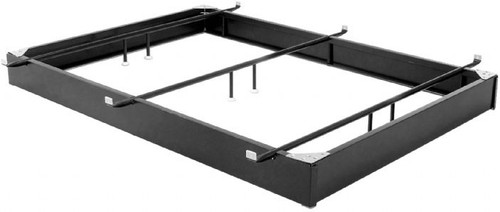Permaform King Black Finish Steel Bed Base