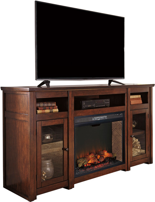 """Rupert 72"""" Wide TV Stand with Fireplace"""