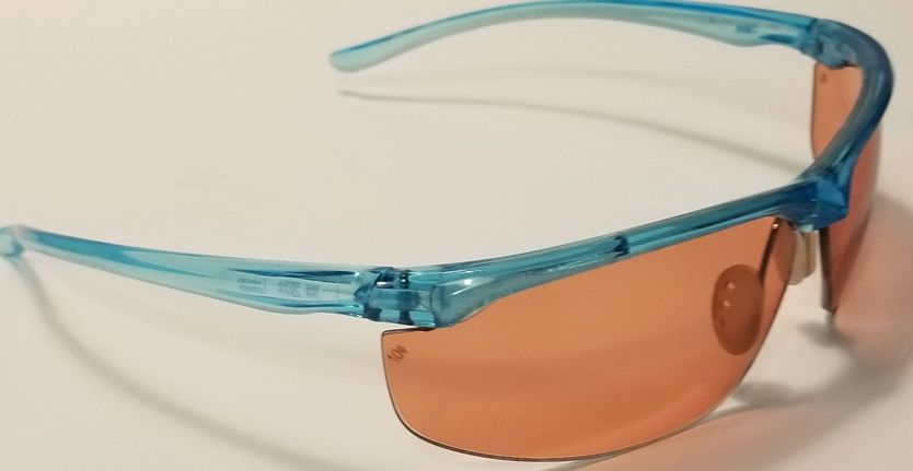 Example of TheraSpecs Tinted Safety Glasses