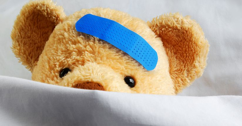 Teddy bear mimicking childhood migraine