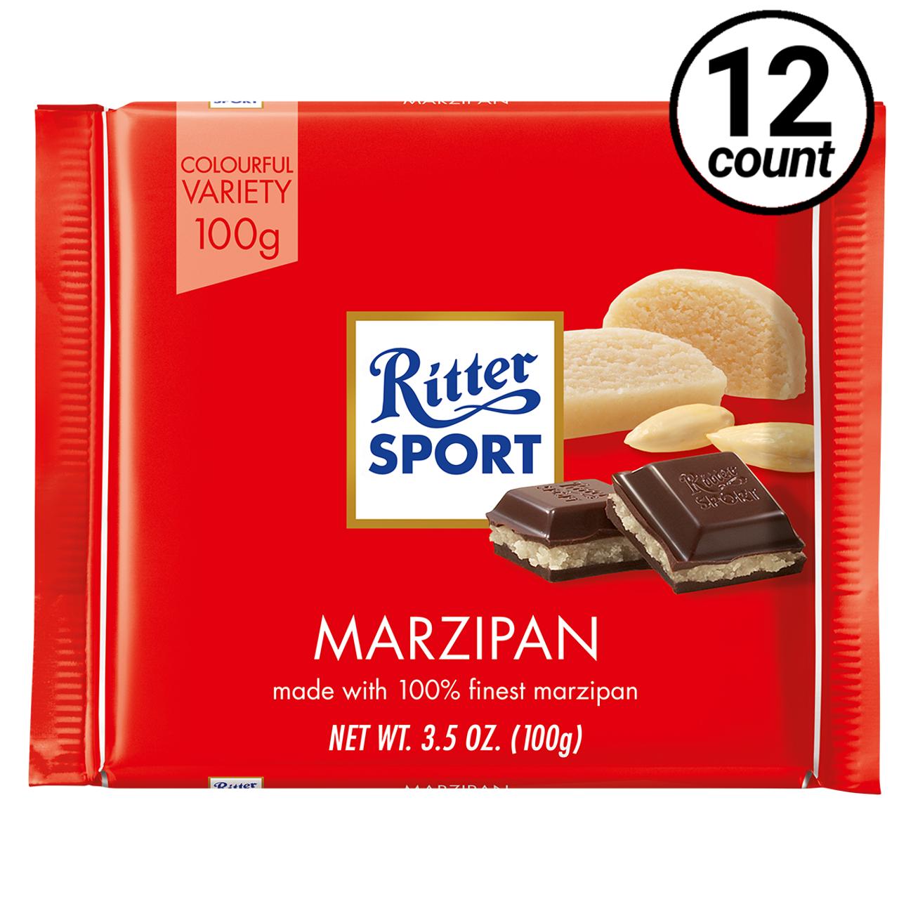 Ritter Sport Dark Chocolate With Marzipan 3 5 Oz 12