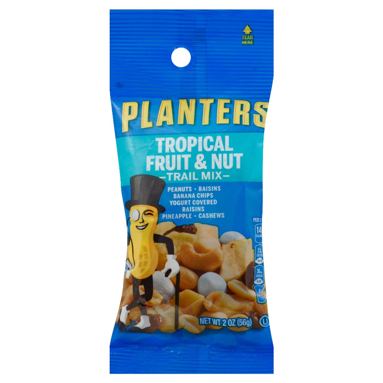 Planters Trail Mix, Tropical Fruit & Nut, 2 Oz Tube (1 Count ... on trial mix, tortilla mix, snack mix, party mix, soup mix, chex mix, vanilla pudding mix, just mix, planters cheese curls, planters peanuts, chocolate pudding mix, mocha coffee mix, bisquick mix, planters spicy nuts cajun sticks and, planters cocoa almonds,
