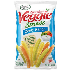 Garden Veggie Straws, Zesty Ranch, 1.0 oz. Peg Bag (1 Count)