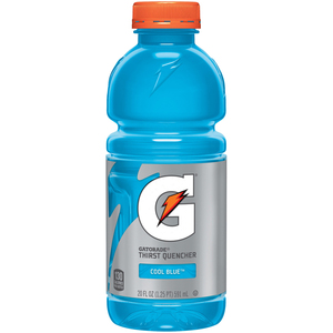 Gatorade, Cool Blue, 20 oz. Bottles (24 Count Case)