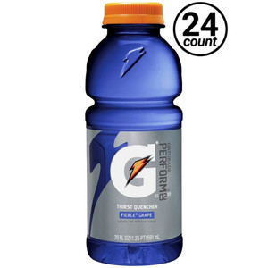 Gatorade, Fierce Grape, 20.0 oz. Bottle (24 Count)