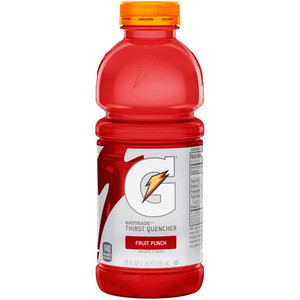 Gatorade, Fruit Punch, 20 oz. Bottles (24 Count Case)