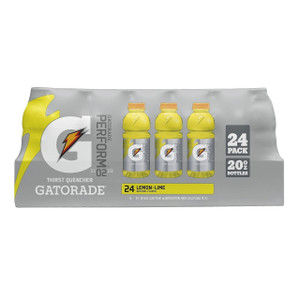 Gatorade, Lemon Lime, 20 oz. Bottles (24 Count Case)