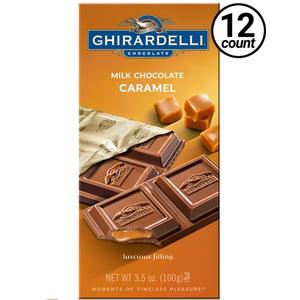 Ghirardelli Chocolate, Milk & Caramel, 3.5 oz. (12 Count)