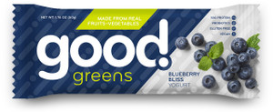 Good Greens Greek Yogurt Bar, Blueberry, 1.76 oz. Bar (12 Count)
