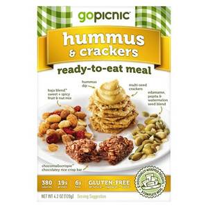 GoPicnic, All-Natural Meal, Hummus+Crackers, 4.44 oz. (1 Count)