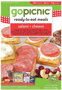GoPicnic, Classic Deli Meal, Salami & Cheese, 3.38 oz. (1 Count)