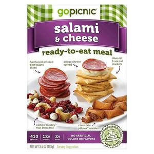 GoPicnic, Salami + Cheese, 3.5 oz. Box (1 Count)