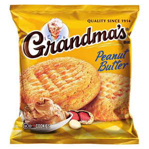 Grandma's, 2 Peanut Butter Cookies, 2.5 oz. Bag (1 Count)