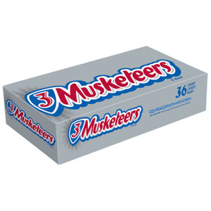 3 Musketeers, Full Size, 2.13 oz. Bars (36 Count)