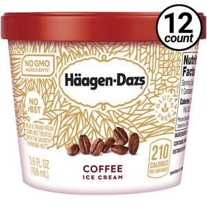 Haagen-Dazs, Coffee Ice Cream, 3.6 oz. Mini-Cup (12 Count)