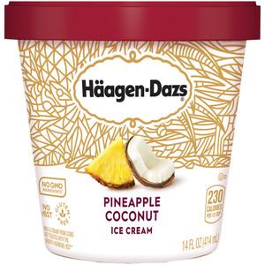 Haagen-Dazs, Pineapple Coconut Ice Cream, Pint (1 Count)