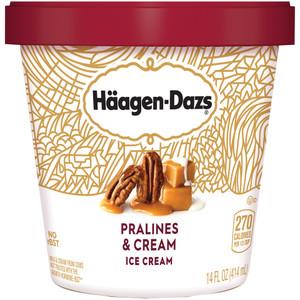 Haagen-Dazs, Pralines and Cream Ice Cream, Pint (1 Count)