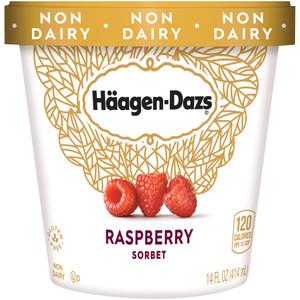 Haagen-Dazs, Raspberry Sorbet, Pint (1 Count)