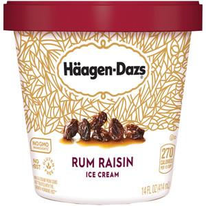 Haagen-Dazs, Rum Raisin Ice Cream, Pint (1 Count)