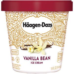 Haagen-Dazs, Vanilla Bean Ice Cream, Pint (1 Count)