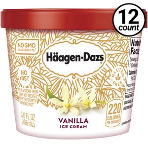 Haagen-Dazs, Vanilla Ice Cream, 3.6 oz. Mini-Cup (12 Count)