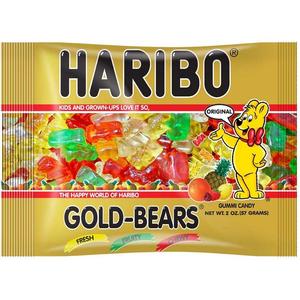 Haribo Gummi Candy, Gold Bears, 2.0 oz. Bag (24 Count)