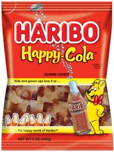 Haribo Gummi Candy, Happy Cola, 5.0 oz. Bag (1 Count)