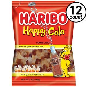 Haribo Gummi Candy, Happy Cola, 5.0 oz. Bag (12 Count)