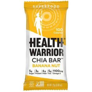 Health Warrior, Banana Nut Chia Bar, 0.88 oz. (15 Count)