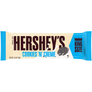 Hershey's, Cookies 'n' Creme KING SIZE Candy Bar, 2.6 oz. (18 Count)